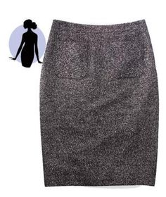 If You Have a Straight Figure | Any body type can pull of the sleek cut of a pencil skirt with a few helpful pointers.