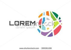 C abstract colorful logo