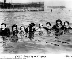 """What Sunnyside looked like before the Gardiner arrived  Opened in 1922 (the name predates the amusent park), some landmarks from Sunnyside's early days remain — the Bathing Pavilion chief among them — but with the arrival of the Gardiner Expressway in the 1950s, the so-called """"poor man's Riviera"""" was confined to memory."""