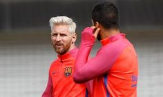 Lionel Messi and Luis Suárez were in no mood for interviews at St George's Park