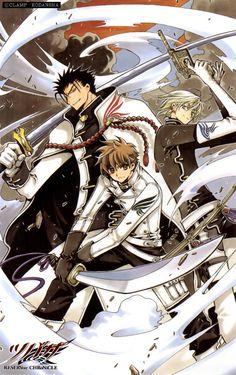 Tsubasa Reservoir Chronicle CLAMP. Kurogane, Syaoran, and Fai. Our awesome trio