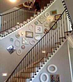 idées déco de cage d'escalier intérieur