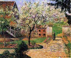 Camille Pissarro「Flowering Plum Tree, Eragny」