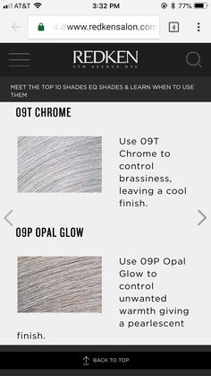 Shades EQ Top Ten Shades - Best Uses - Hair Color Formulas, Techniques & Inspiration - Beauty Redken Shades Eq, Shades Eq Color Chart, Redken Toner, Hair Color Formulas, Redken Color Formulas, Redken Hair Color, Redken Hair Products, Hair Toner, Colored Hair Tips