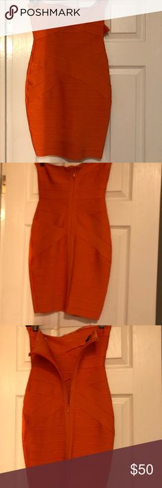 House of CB bandage dress House of CB orange dress Never before worn High quality stretch material  Size small House of Celebrity Boutique Dresses Mini