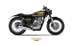 Constructed from a range of custom & bolt on parts, Ellaspede developed 3 Yamaha concepts which satisfy a variety of our favourite custom styles Yamaha Sr400, Yamaha Motorcycles, Custom Motorcycles, Custom Bikes, Tracker Motorcycle, Cafe Racer Motorcycle, Sr400 Cafe Racer, Cx 500, Bike Pic