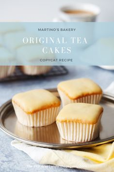 Martino's Bakery Original Tea Cakes (Copycat Yields 12 tea cakes - Whip up a batch of the world famous original tea cakes from Martino's Bakery in Burbank, California in your own kitchen with this copycat recipe. Tea Cakes, Mini Cakes, Cupcake Cakes, Cupcakes, Bakery Recipes, Tea Recipes, Cupcake Recipes, Dessert Recipes, Fast Recipes
