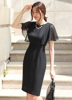 Korean Women`s Fashion Shopping Mall, Styleonme. New Arrivals Everyday and Free International Shipping Available. Korean Women`s Fashion Shopping Mall, Styleonme. New Arrivals Everyday and Free International Shipping Available. Slim Fit Dresses, Simple Dresses, Elegant Dresses, Casual Dresses, Short Dresses, Dresses With Sleeves, Fashion Mode, Womens Fashion, Fashion Styles