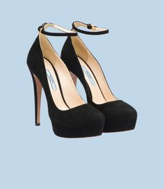 """Prada Mary Janes  Because anything else looks less like a """"French Maid"""" Halloween costume."""