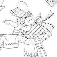 Little Susan Days of the Week embroidery pattern - TUESDAY Embroidery Transfers, Hand Embroidery Patterns, Applique Patterns, Vintage Embroidery, Cross Stitch Embroidery, Machine Embroidery, Stitch Patterns, Sunbonnet Sue, Crazy Quilting