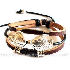 Bangle bracelet leather bracelet men by jewelrybraceletcuff, $8.00