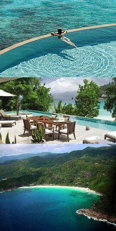 The Four Seasons Resort at Seychelles. Honeymoon destination?? yes please!