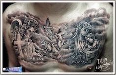 angel tattoo the Virgin Mary