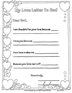 This printable coloring page is perfect for a church lesson on loving God, I created it for a St. Valentine's day themed lesson in my churc...