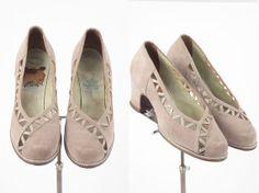 1930s shoes/ 30s platforms/ German