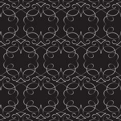 Jonathan Adler Wallpaper Scroll Black @Sarah Nasafi Grayce