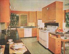 1953 Kitchen with Franciscan Apple Dinnerware