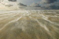 Stuivend zand op Schiermonnikoog