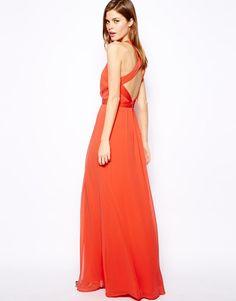 Warehouse   Warehouse Strappy Back Maxi Dress at ASOS