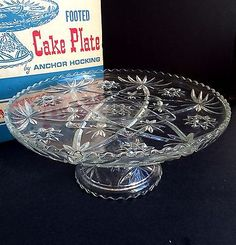 Anchor Hocking Star of David cake plate with pedestal. I have this.