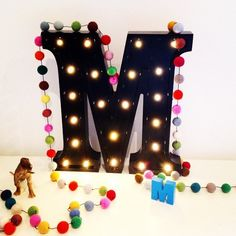 Little Letter Lights Co Marquee style battery operated letter lights #LLLC