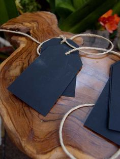 Ten Chalkboard Tags with String $12 pkg.