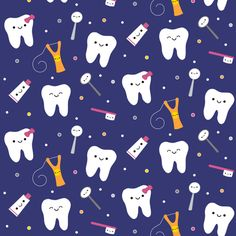 Happy Teeth & Friends - Royal Blue by clayvision