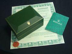 ROLEX VINTAGE 1986 RARE WATCH BOX + Guarantee paper +  FREE SHIPPING  #Rolex