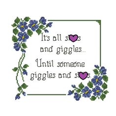 Floral Cross Stitch Pattern - Funny Meme Design - Subversive Embroidery Chart - Purple Flower - Needlepoint Vines - Swear - Offensive Humor by StitchyLittleFox on Etsy