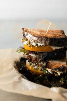 Tomato Sandwich with Olive Tapenade and Hummus | Naturally Ella