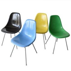 Vintage DSX Chairs by Charles and Ray Eames for Herman Miller, Set