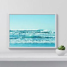Beach Print Beach Poster Beach Wall Art Ocean Waves