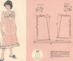 Girl Dress Patterns, Dress Making Patterns, Vintage Dress Patterns, Clothing Patterns, Short Patron Couture, Sewing Clothes, Diy Clothes, Crochet Yoke, Flower Embroidery Designs
