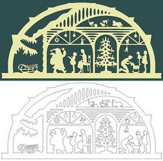 candle patterns scroll saw Christmas Scenes, Christmas Wood, Christmas Design, Christmas Crafts, Cardboard Paper, Paper Toys, Paper Cutting Patterns, Christmas Stencils, Decorating With Christmas Lights