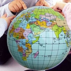 Hot sale earth globe planet world map foam stress relief bouncy 106 gbp inflatable globe blow up world map atlas ball earth map ball blow gumiabroncs Gallery