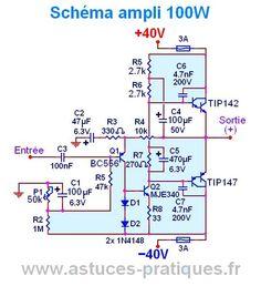 ampli 100w ultra simple typon et schema 3