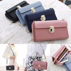 Small Genuine Leather Buckle Handbag Shoulder Crossbody Messenger Bag Purse Gift #FROMb #MessengerCrossBody