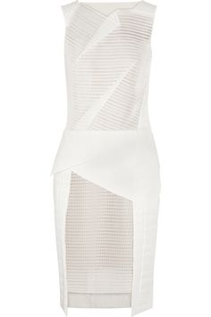 ROLAND MOURET Oak coated crepe and mesh dress £672.75 http://www.theoutnet.com/products/563090