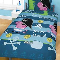 Peppa Pig George Duvet Cover and Pillowcase 'Pirate' Rotary Design Kids Bedding by Character World, http://www.amazon.co.uk/dp/B006MD4JPQ/ref=cm_sw_r_pi_dp_yjlNsb10BMAJW