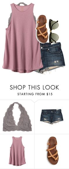 """cracked my phone. like rlly bad."" by elizabethannee ❤ liked on Polyvore featuring rag & bone/JEAN, RVCA and Ray-Ban"