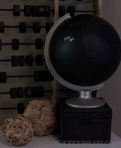 A chalkboard globe!