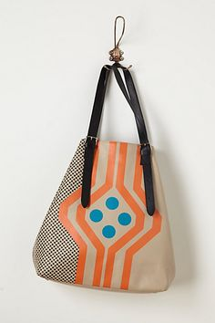 Screen printing kit and some vinyl STAT!  Mosaic Dots Tote #anthropologie