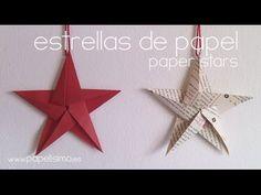Cómo hacer estrellas de papel cinco puntas | Manualidades