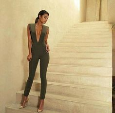 House Of CB bandage bodycon jumpsuit
