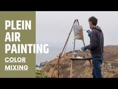 PLEIN AIR oil painting COLOR MIXING on a GRAY DAY - YouTube Color Mixing, Paint Colors, Oil, Gray, Youtube, Painting, Instagram, Paint Colours, Grey