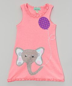 Love this mini scraps Pink Elephant Shift Dress - Infant, Toddler & Girls by mini scraps on #zulily! #zulilyfinds