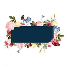 Blank floral frame card illustration | free image by rawpixel.com Flower Background Wallpaper, Text Background, Flower Backgrounds, Background Patterns, Wallpaper Backgrounds, Background Powerpoint, Phone Backgrounds, Fond Design, Printable Frames
