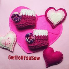 NEW LISTING!!!! Cute, Confetti Pom Pom booties. Perfect for Valentine's Day photos!
