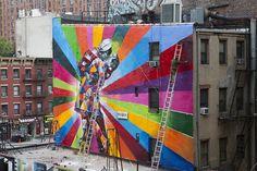 Mural by Kobra