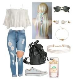 """""""Bez naslova #31"""" by laura-medved on Polyvore featuring moda, Sans Souci, Converse, Casetify, Ray-Ban i Humble Chic"""